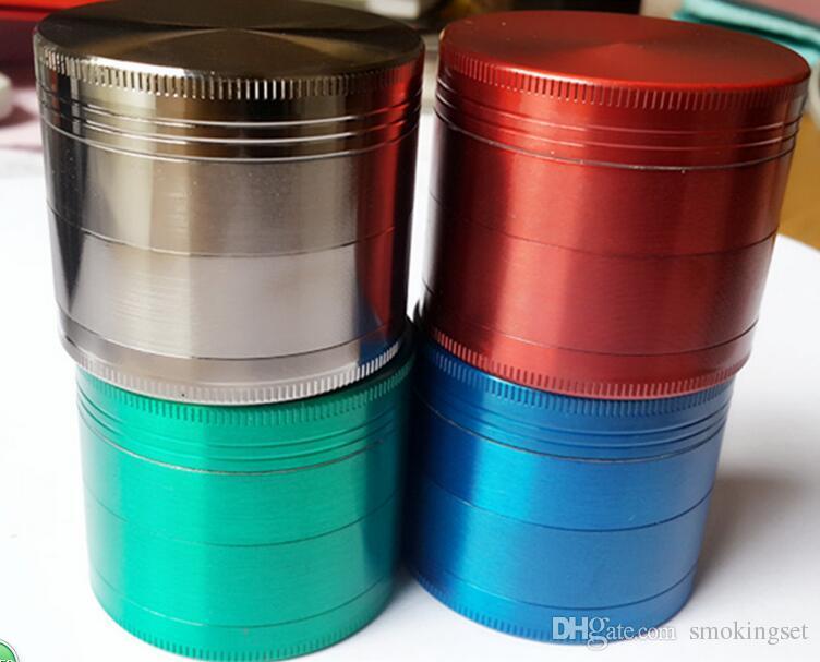 6 couleur métal herbe broyeur Sharp Stone 4 parties 40mm à base de plantes tabac fumée cracker filtre net herbe sèche vaporisateur e cig