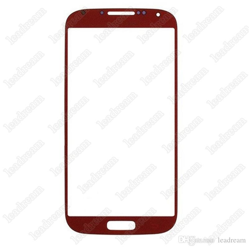 100PCS Front Outer Touch Screen Glass Lens Replacement for Samsung Galaxy s4 i9500 i9505 i337 free DHL