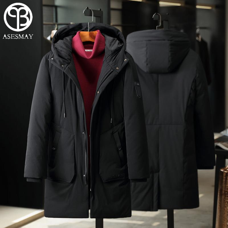 Asesmay Men Down Jacket Men Winter Coats High Quality Brand Clothing Mens Parka Hoodies Thick Winter Jackets Warm Goose Feather