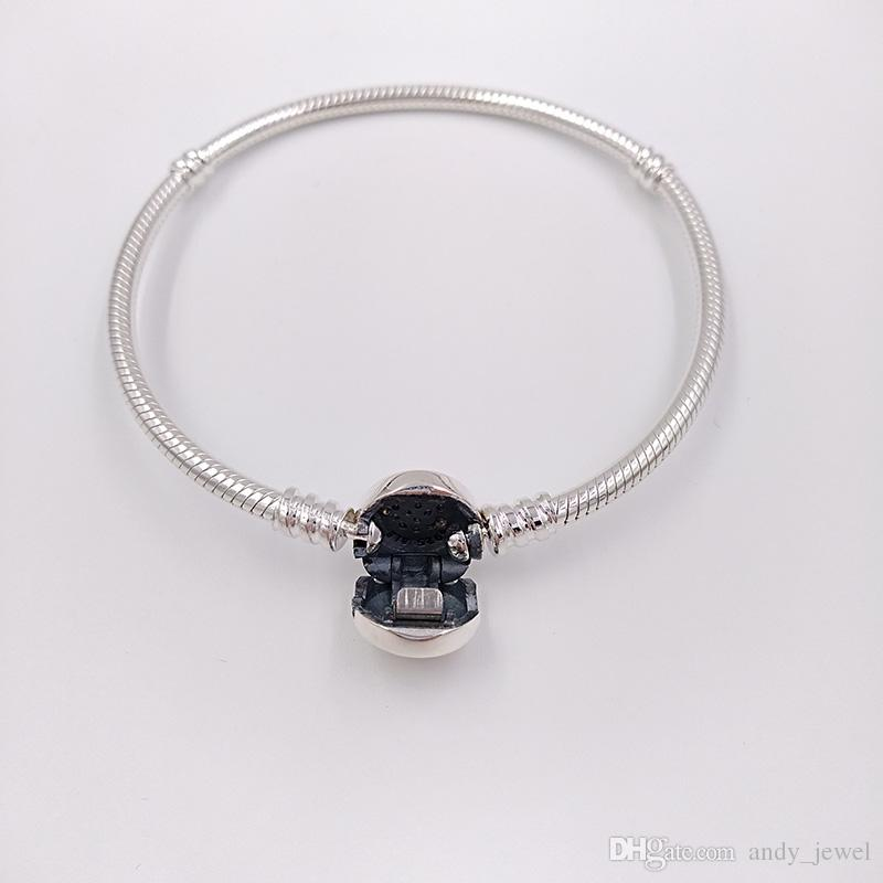 b2b129852 ... Authentic 925 Sterling Silver Beads Moments Two Tone Bracelet With P  Signature Clasp Fits European Pandora ...