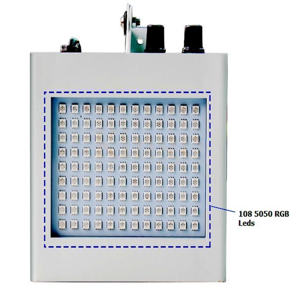 المهنية أضواء led المرحلة 12 واط 108 smd5050 rgb المصابيح المرحلة تأثير صوت صوت تنشيط ضوء القوية ل dj ديسكو حزب ktv