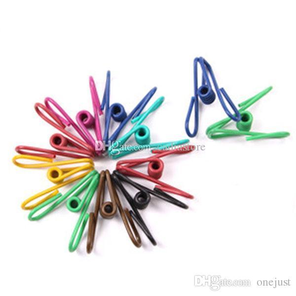 5 Calze colorate per abiti da primavera in acciaio che appendono pioli Clips Morsetti E00339 OST