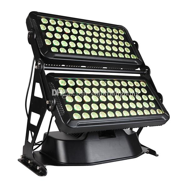 Free shipping High quality 120X18W Silent IP65 Waterproof RGBAW UV 6in1 High power LED Wall Washer Outdoor LED Lights with flight case