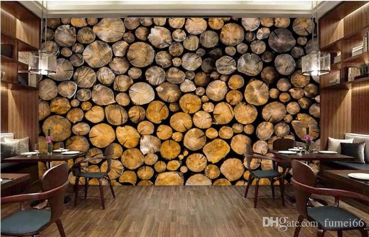 Custom Photo Wallpaper Mural Retro Wood Wooden Restaurant Wall Background Living Room Wall Papel De Parede 3d Wallpaper Hd Widescreen High Quality