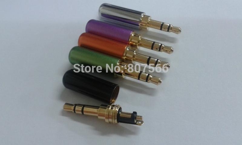 3.5mm 3 Pole Male Stereo Mini Jack Plug soldadura