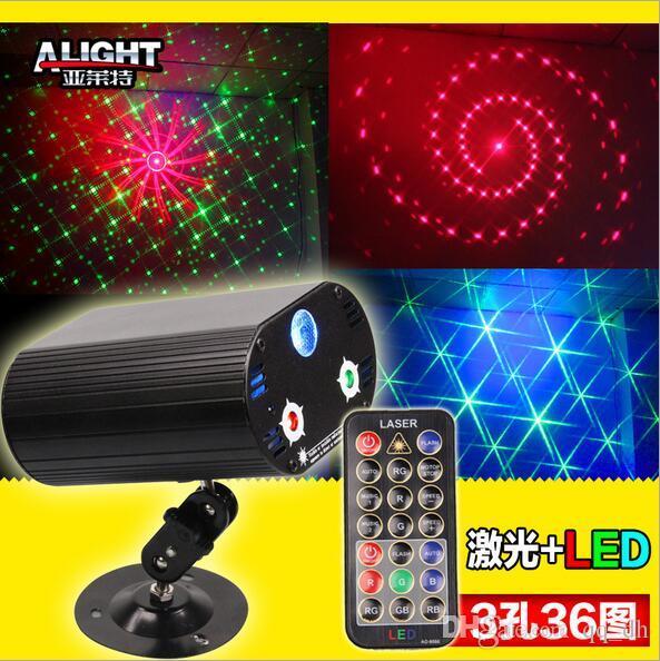 36 en 1 étape lumière mini led stage laser allumant projecteur de décoration de fête disco KTV vert bleu rouge