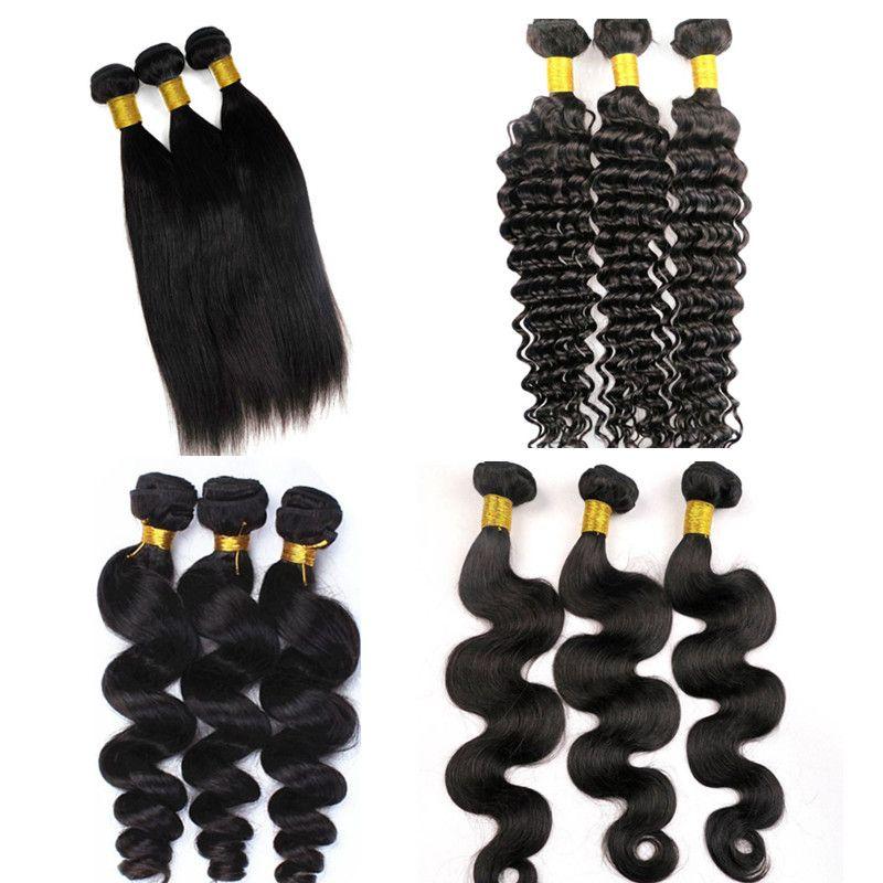 Норка бразильская объемная волна связки девственные человеческие волосы ткет утки 8-34inch необработанные перуанские Малайзийские индийские Навальные выдвижения человеческих волос