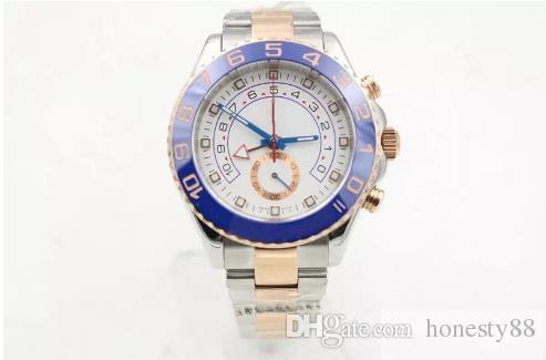 Saphir en cristal bleu lunette en céramique de luxe pour hommes