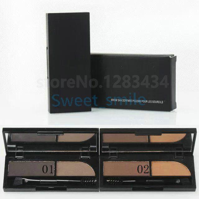 Novo Estilo 2 Cores Eyeshadow Sobrancelha Pó Alta Quailidade Maquiagem Sobrancelha Frete Grátis