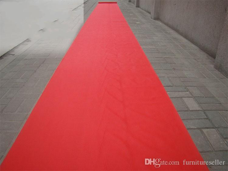2016 New Wedding Favors Red Nonwoven Fabric Carpet Aisle Runner For Wedding Party Decoration Supplies Shooting Prop free shipping