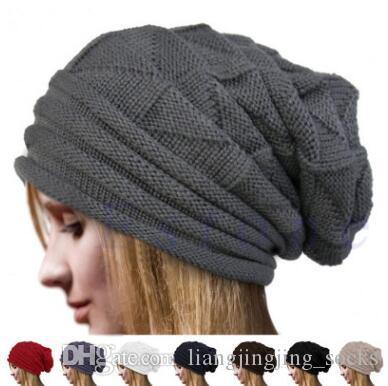 7 couleurs Hot Outdoor Mode unisexe Beanies hiver chaud Bonnet Crochet crâne Bonnet Casquettes CCA7269 20pcs