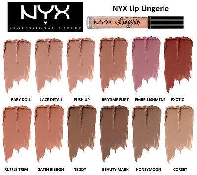 2016 NYX lip lingerie liquid Matte Lip Cream Lipstick NYX Charming Long-lasting Brand Makeup Lipsticks Lip Gloss 12colors free shipping DHL