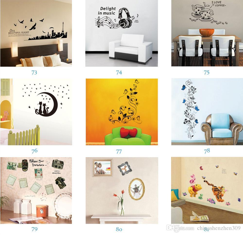 Wholesale Removable Wall Stickers Home Decals Kids Room Wall ...