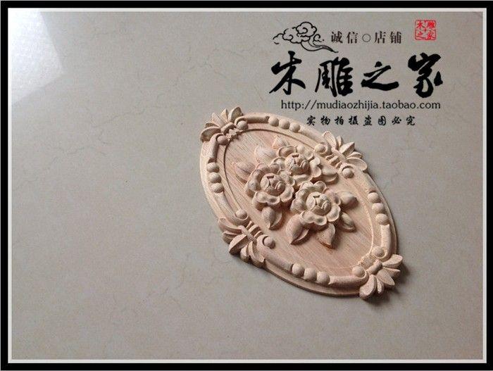 Acquista dongyang intaglio in legno rosa applique patch europea