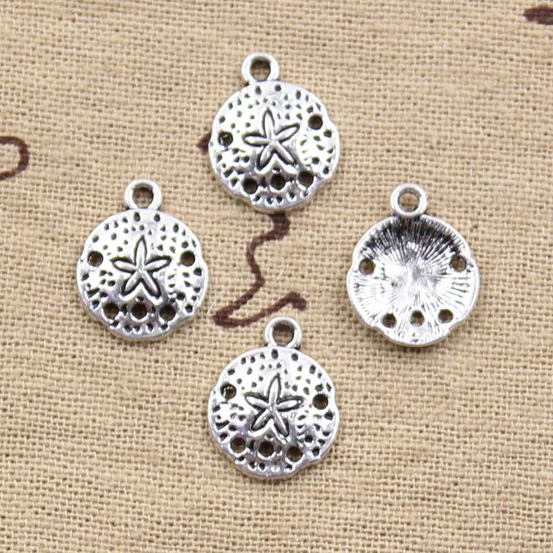 200 pcs Charmes étoile de mer 12mm Antique Making pendentif fit, argent tibétain Vintage, collier bracelet bricolage