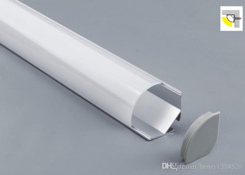 trasporto libero Profilo di vendita caldo alluminio di alta qualità sospeso bordo soffitto Luce LED Strip chiaro opale Lense