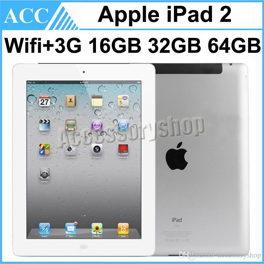 Recuperado Original Apple iPad 2 Wi-Fi + 3G Cellular 9,7 polegadas 1pcs 16GB 32GB 64GB IOS Dual Core 1GHz A5 Chipset Tablet PC DHL
