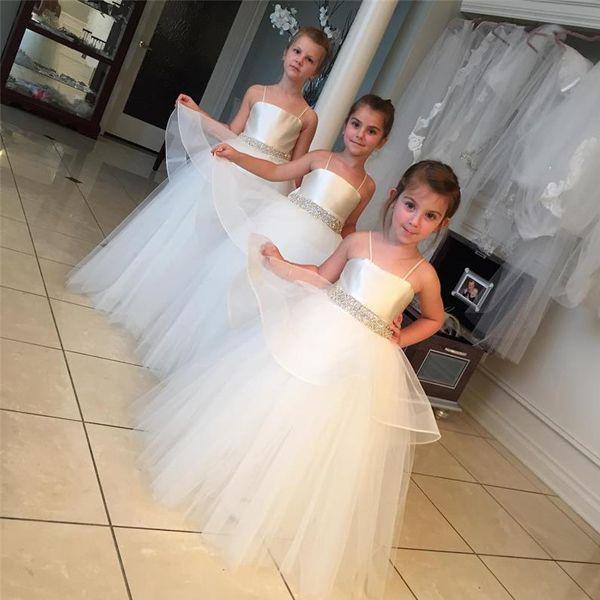 사랑스러운 꽃 여자 드레스 결혼식 부드러운 얇은 명주 그물 스파게티 스트랩 아이 십대 꽃 파티 가운 절묘한 파란색 벨트