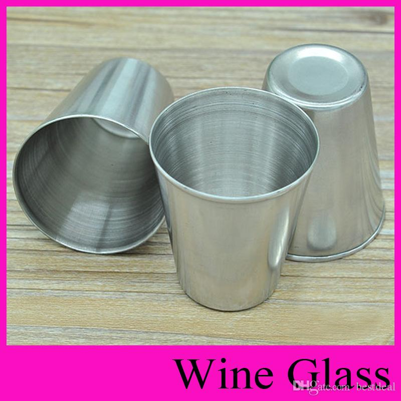 4 Tamaño MINI S M L Copa de vino frascos de cadera Copa de acero inoxidable para beber alcohol Vaso borracho Whisky jarra de cerveza Copa de vino frasco de Oxhorn