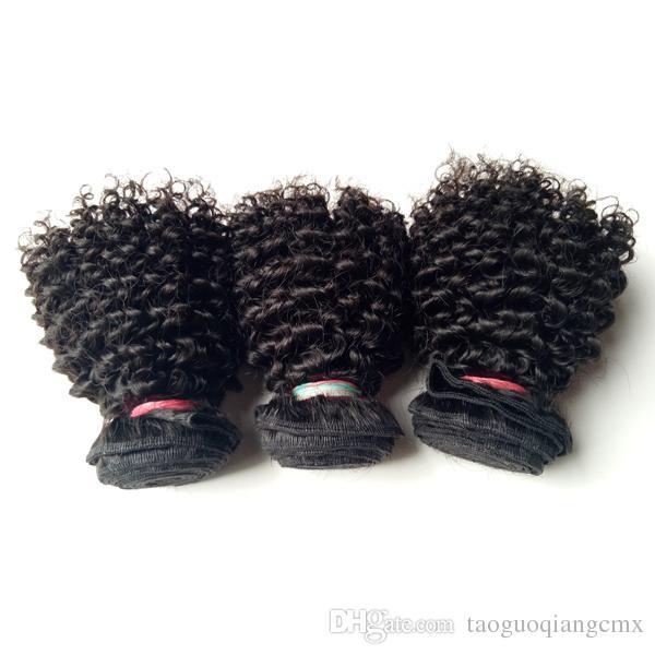 Brazylijski Dziewiczy Human Hair Sexy 8-22 cali Kinky Curly Hair Extension wysokiej jakości fabryka Cena Hurtowa Indian Remy Human Hair Double Wątek