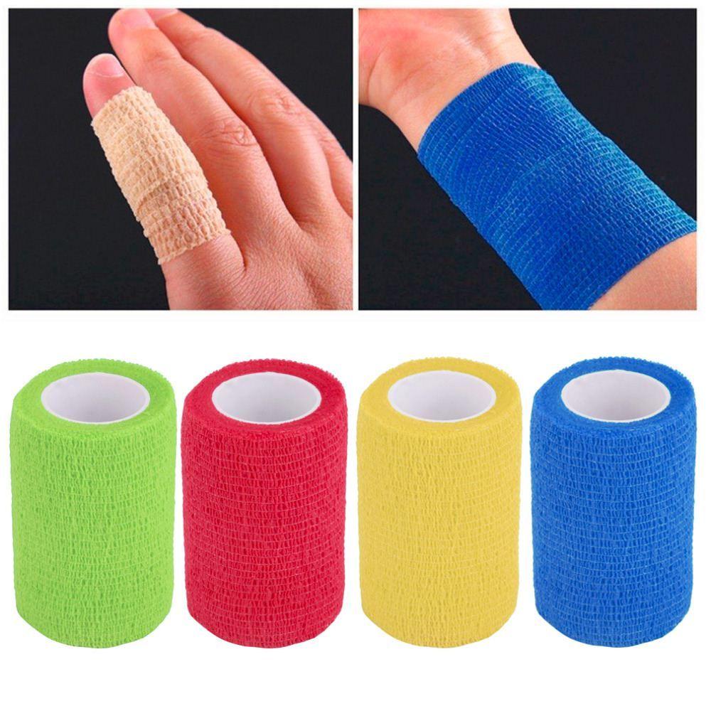 Selbstklebende Verband wraps elastische klebende erste Hilfe tape4.5m x 7,5 cm versandkostenfrei