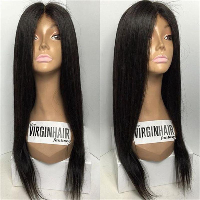 Parrucche diritte seriche dei capelli umani Parrucca piena del merletto della parrucca piena del merletto dei capelli brasiliani per le donne nere con i capelli del bambino