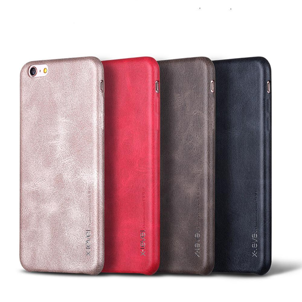 X-Level Luxury Vintage Leather phone case For iPhone X 8 8plus
