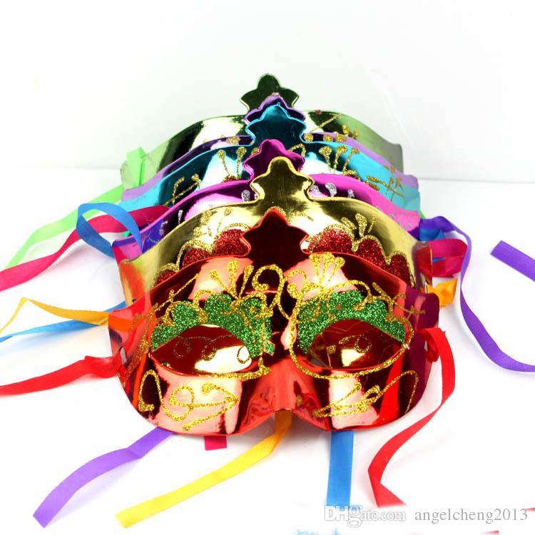 Венецианская Красота Принц Принцесса Маскарад Маска Половина Маска Glittear Марди Гра Хэллоуин Мяч Маска Один Размер Подходит Для Большинства (Разных Цветов)