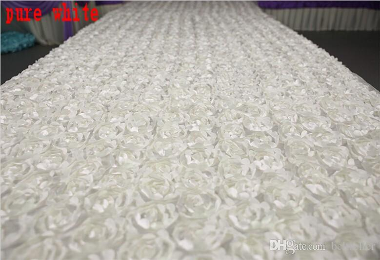 حار بيع الأبيض 3D روز زهرة الممر عداء السجاد 1.4M على نطاق واسع 10 متر / الكثير زفاف الديكور السجاد إطلاق نار الدعامة 16 الألوان