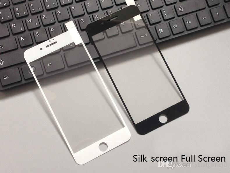 6s Печать закаленных 8 для экрана iPhone Silk STALL 7 FULL 6 PLUS Protector Pline Cover Защитный X Brbbr