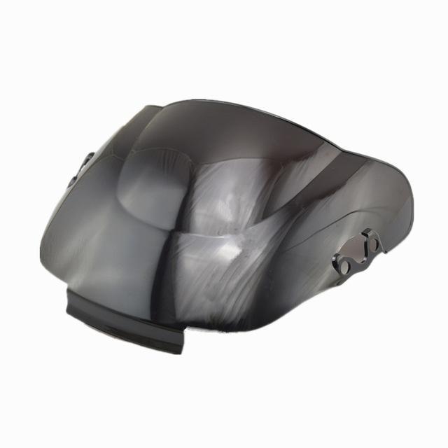 Ücretsiz kargo Çift Kabarcık Cam Cam için CBR 600 F2 1991-1994 1992 1993 Siyah Rüzgar Deflector
