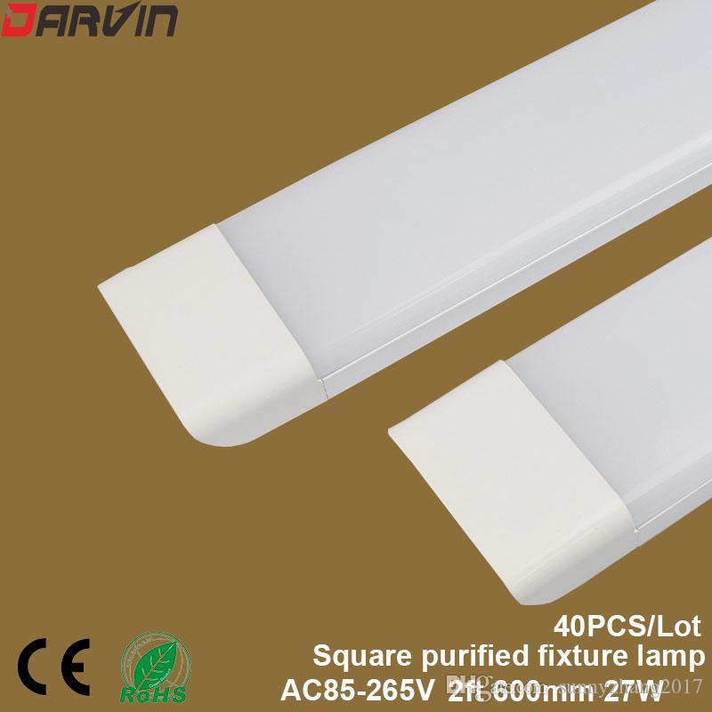 새로운 스타일! 지도 한 청결한 정화 관 빛 2ft 600mm 27W는 편평한 고정 편 빛 3 선을지도했습니다 세 배 증거 램프 170 광속 각을지도했습니다