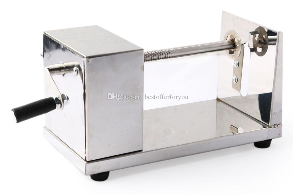 Marka Yeni Ticari PATATES SLICER CHIPS Paslanmaz Çelik Twisted Patates Dilimleme Kesici Havuç Spiral Kesme Makinesi SEBZE KESICI