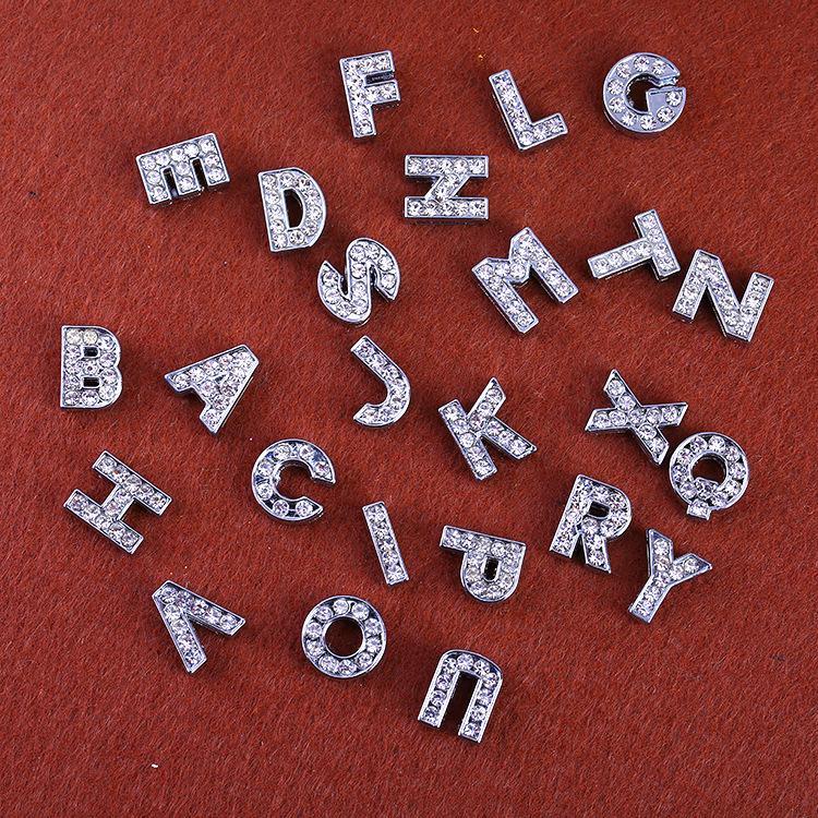 26 Brief für Pandora Charms Zubehör für PU Leder Armbänder Halsketten Armband Schmuck DIY Kristall Charme Metall Schmuck machen