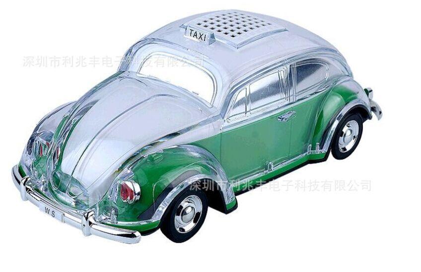 40pcs/WS-1937BT colorful bluetooth mini speaker car shape mini speaker sound box MP3++U disk+TF+FM function+bluetooth