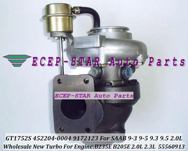 GT1752S 452204-0004 452204 9172123 5955703 Turbine Turbo Turbocharger Fit for SAAB 9-3 9-5 9.3 9.5 B235E B205E B205L 2.0L 2.3L