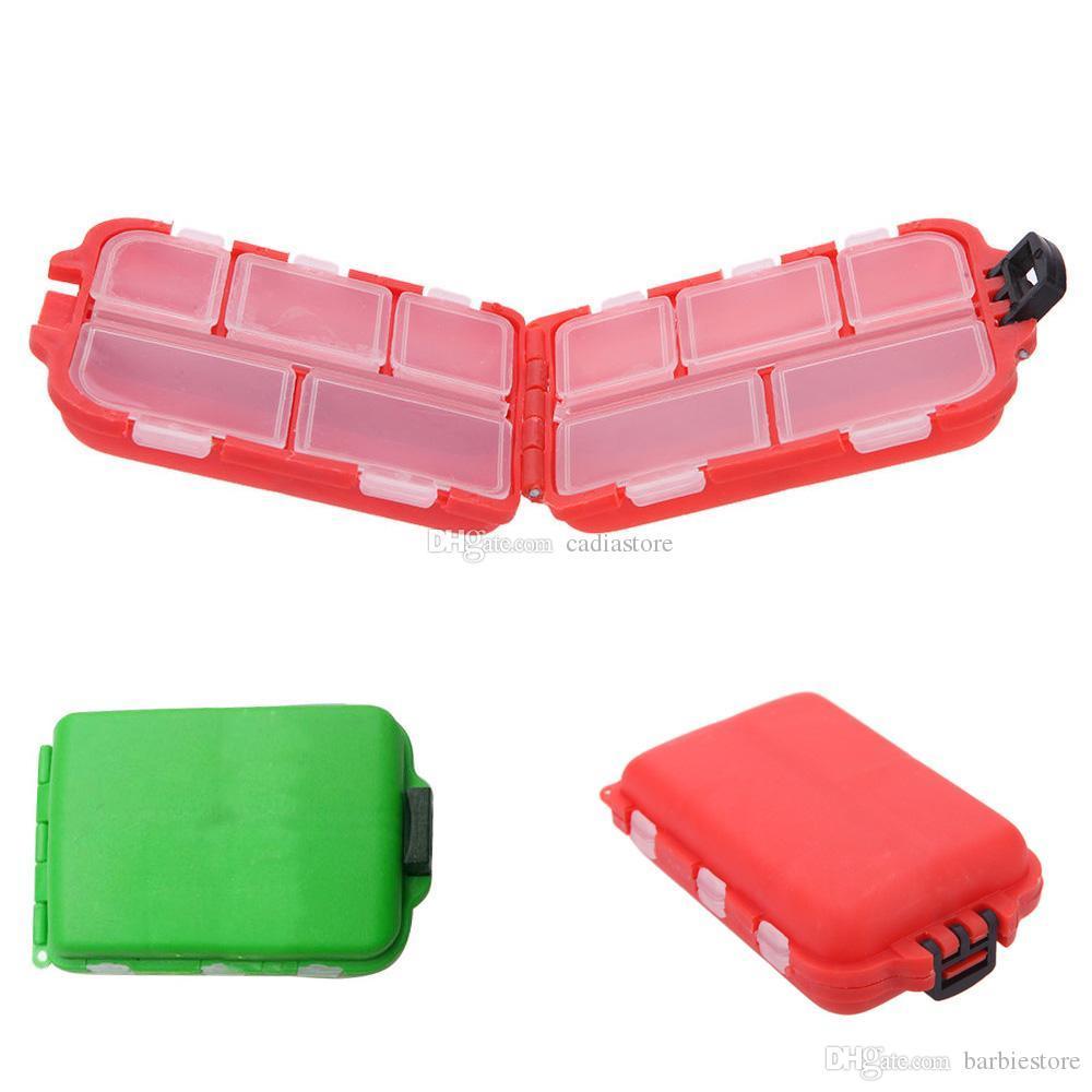 Cute Fishing Lures Tackle Caja de almacenamiento Caja Para Ganchos Cebos 12 Compartimentos Lemonstore F00179 BARD