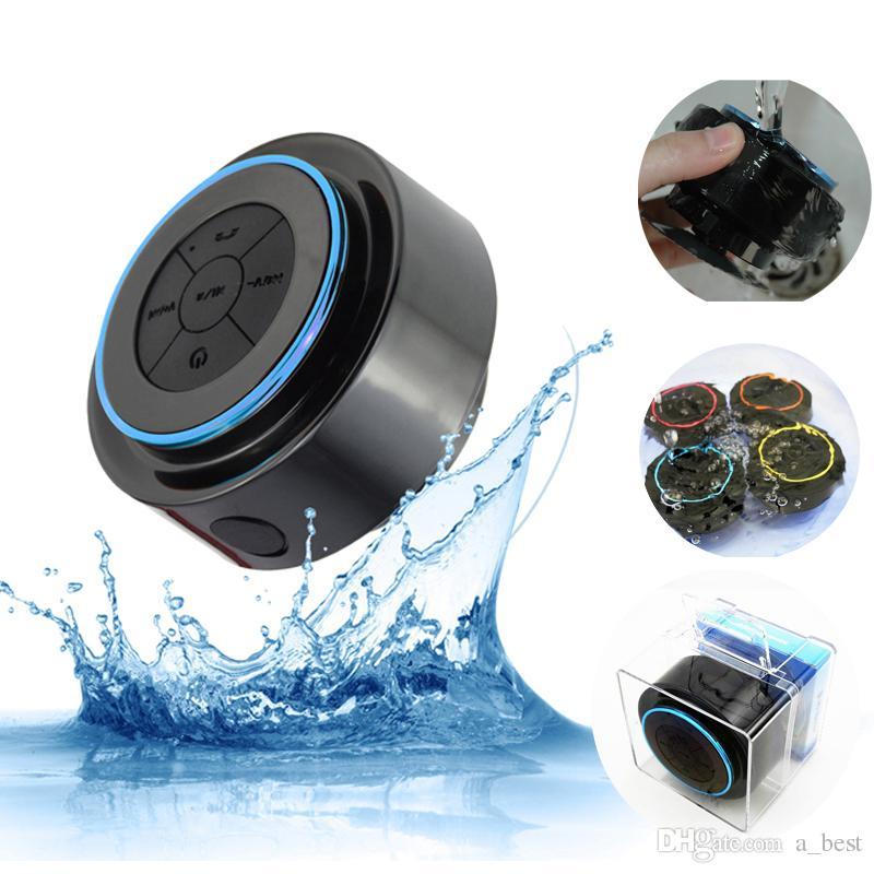휴대용 IP67 방수 미니 블루투스 3.0 스피커 샤워 스피커베이스 강화 및 내장 마이크 지원 음성 통화 MP3 음악 플레이어
