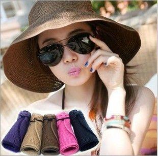 여름 여성 바이저 짚 바이저 여성 빈 모자 태양 모자 태양 모자 접는 모자 한국 스타일 모자