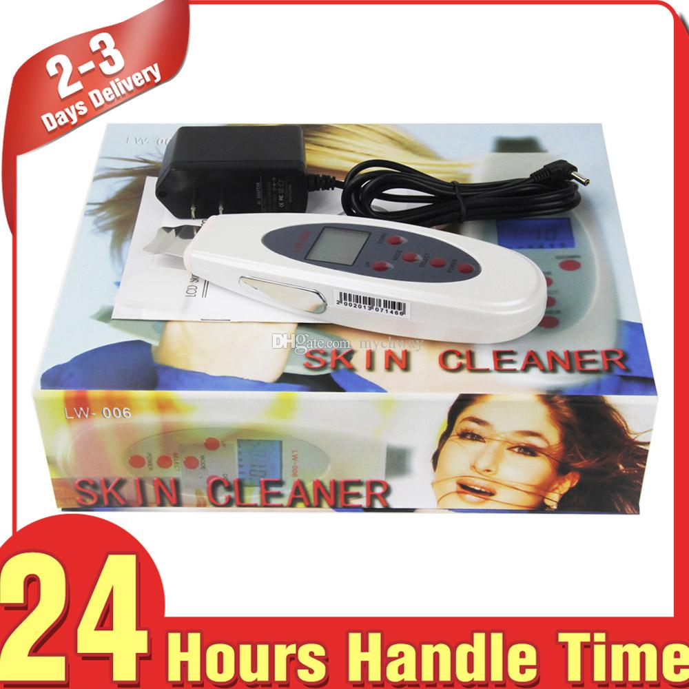 Draagbare Digitale Gezichtsverzorging Ultrasone Huid Scrubber Gezicht Peeling Hoge Frequentie Lifting Beauty Apparatuur LCD-apparaat