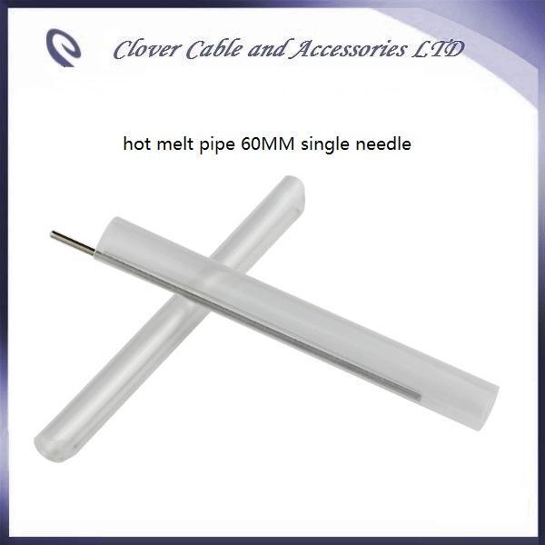 Heißer Verkauf und freies Faserheißschrumpfschlauch 60mm des Verschiffens 100PCS heißes Schmelzrohr mit einzelner Nadel