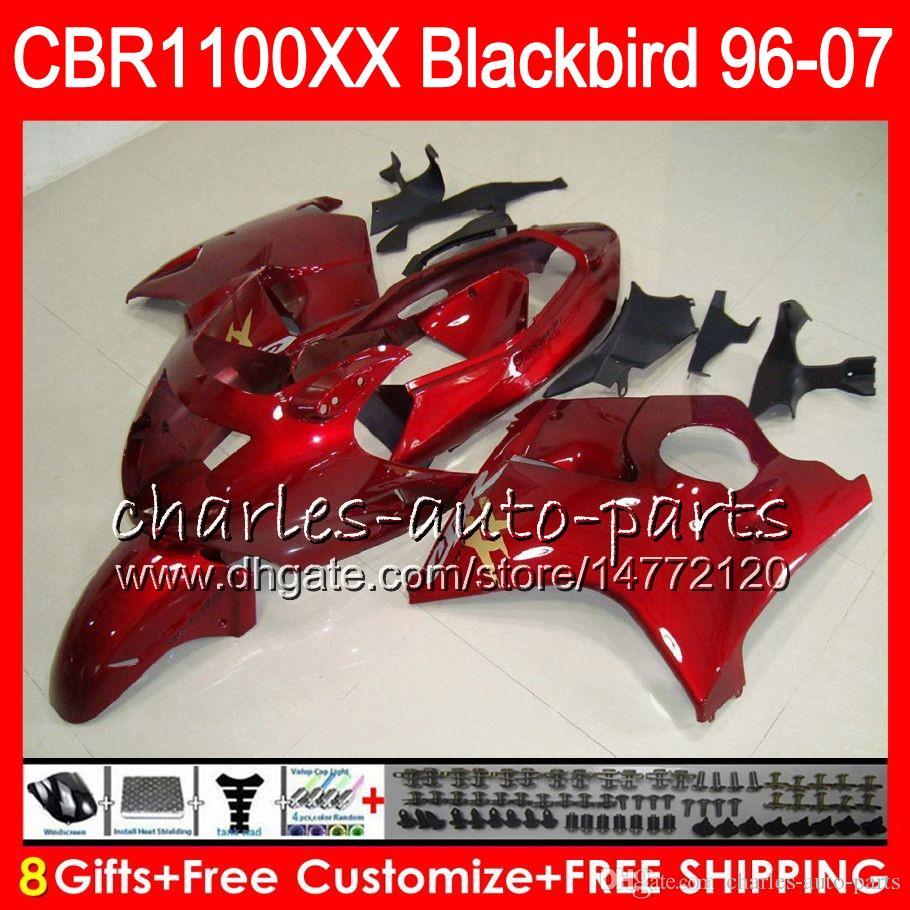 Corpo per HONDA Blackbird CBR1100 XX rosso perla CBR1100XX 96 97 98 99 00 01 81HM12 CBR 1100 XX 1100XX 1996 1997 1998 1999 2000 2001 Carena