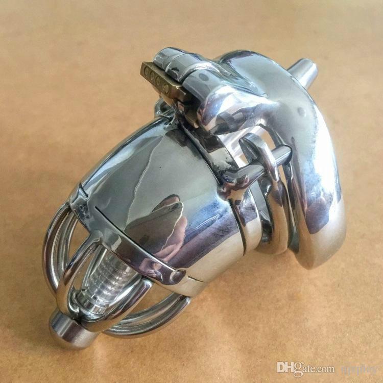 Vendita calda Maschio Bondage cazzo gabbia con picchi anti-off blocco dell'anello disegno dispositivo giocattolo dispositivi di castità maschile sesso in acciaio inox per gli uomini