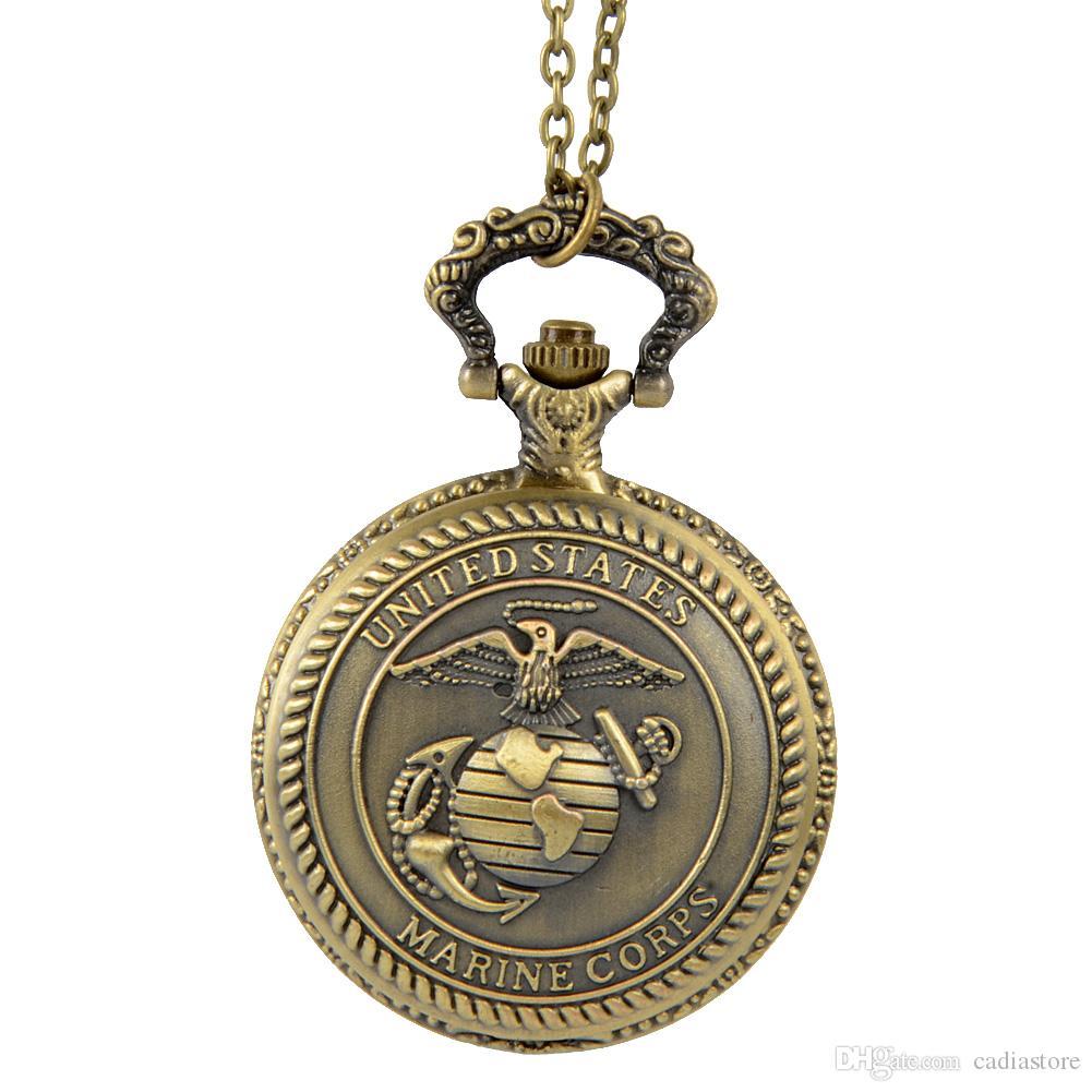 Großhandel Retro Bronzen-Weinlese-Quarz-Taschen-Uhr C00001 FASH ...