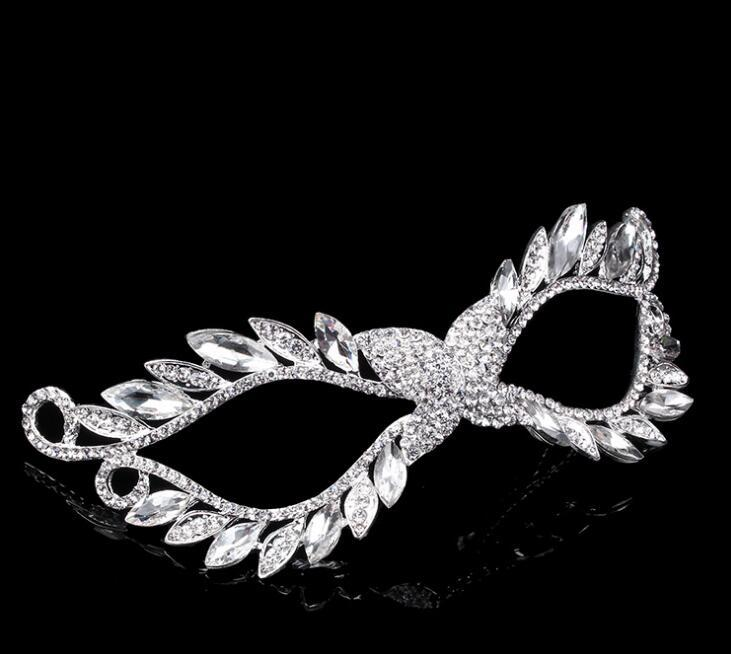 Mask Artificial Diamond alloy crown set auger mask bridal mask artificial crystal masks luxury Costume party supply free shipping FJ022