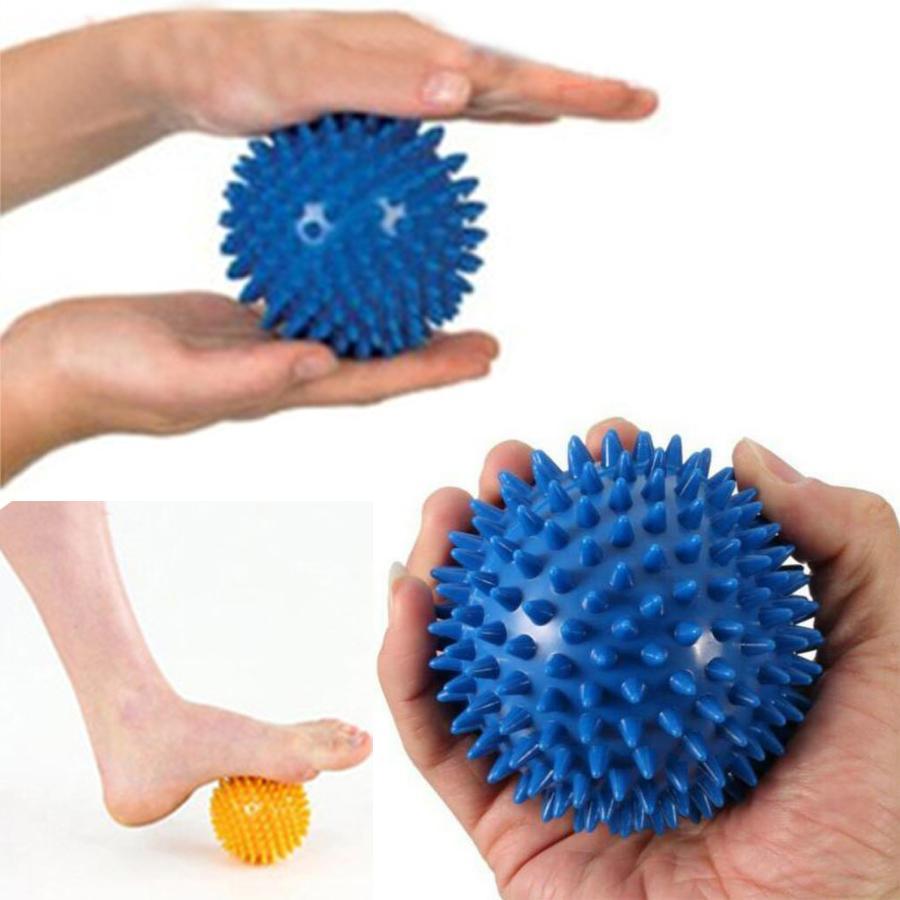 6 colori Spiky Point della sfera di massaggio trigger Roller Riflessologia Stress Relief per Palm piede del braccio posteriore del collo Full Body Massager