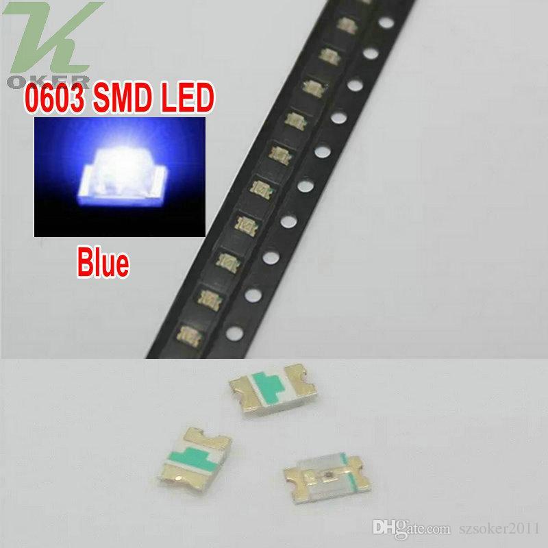 4000 PCS / Spule SMD 0603 blaue LED-Lampen-Dioden ultra helle 0603 SMD grüne LED geben Verschiffen frei