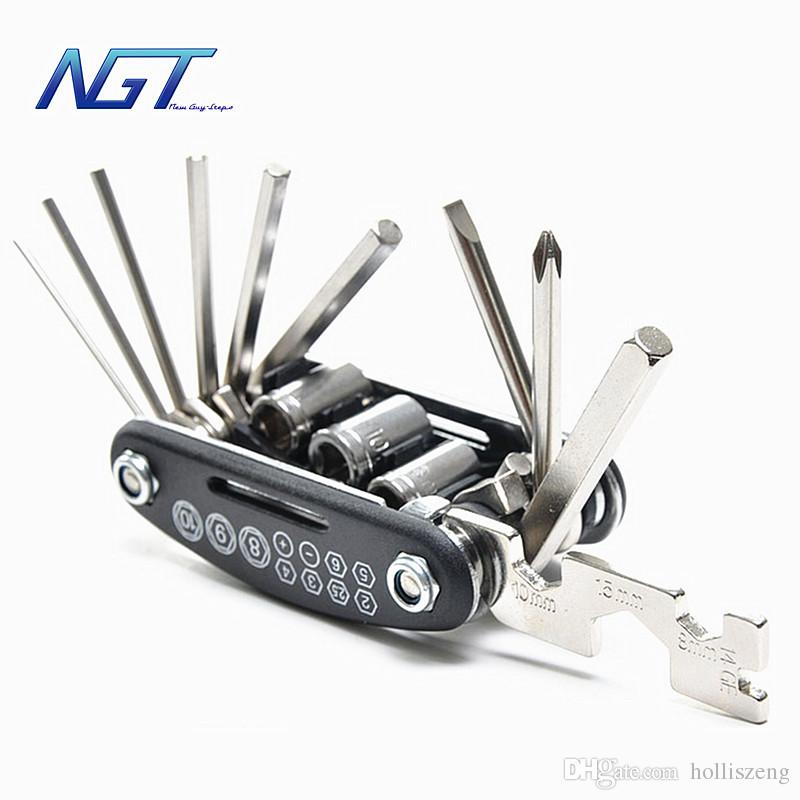 Multi-Function Motorcycle Repair Tool Kit Screwdriver  Folding Spoke Wrench