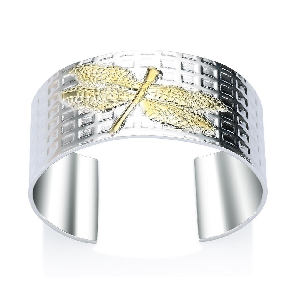 Fábrica al por mayor de plata de ley 925 pulsera brazaletes de color de moda Libélula pulsera de plata grande de la joyería