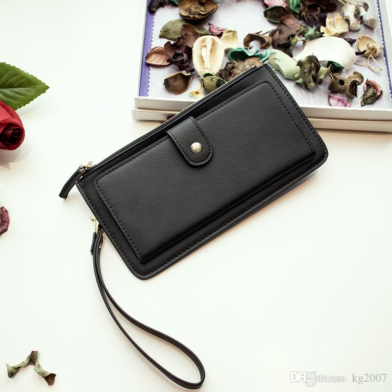 High quality genuine leather wallet cowhide women wallets Multifunctional long Design Wallet Zipper Coin Purse Card Holder NX-202